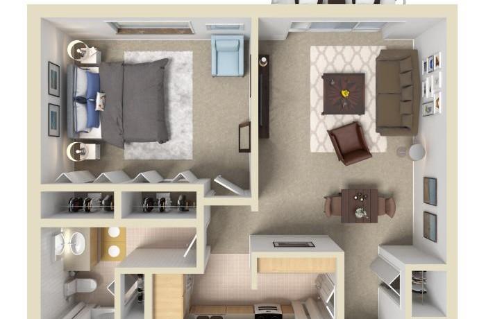 1A 3D floor plan