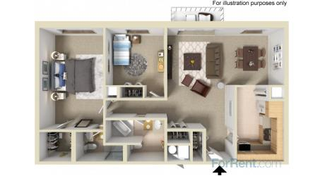 2BD A Floor Plan
